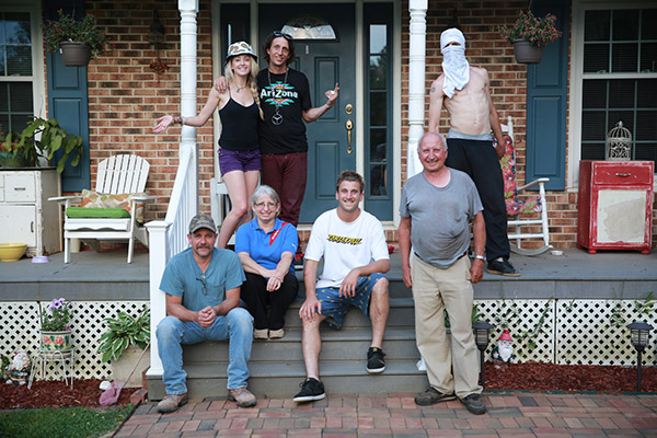 20 - The last photo of the tour at Bonestalone's house in Fredericksburg with his familysm