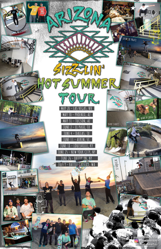 The AZ skate team is touring throughout the USA with Transworld Skateboarding Magazine. Link up with the crew!