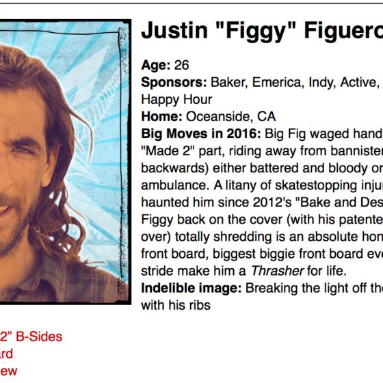 Figgy nominated for Thrasher Magazine's SOTY